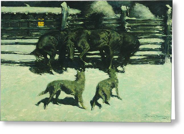 Remington Greeting Cards - The Call for Help Greeting Card by Frederic Remington