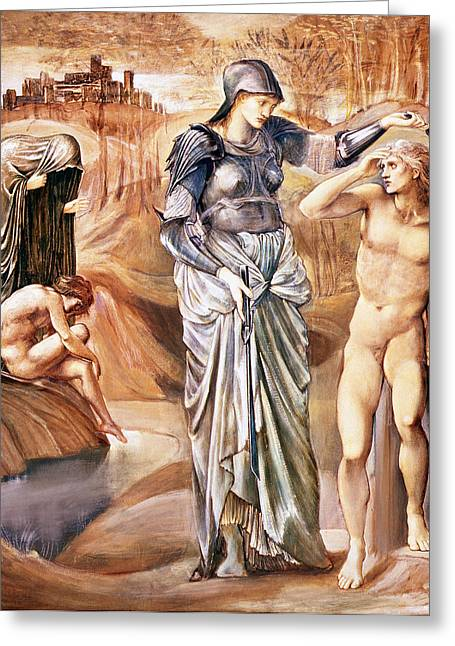 Mirror Drawings Greeting Cards - The Call Of Perseus, C.1876 Greeting Card by Sir Edward Coley Burne-Jones