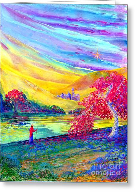 Contemplation Paintings Greeting Cards - The Calling Greeting Card by Jane Small