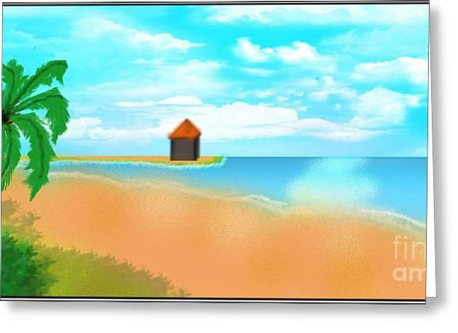 Caost Greeting Cards - The Calm Coast Greeting Card by Mahmuda Sheikh