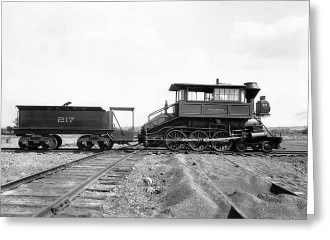 Freight Transportation Greeting Cards - The Camelback Locomotive Greeting Card by Underwood Archives