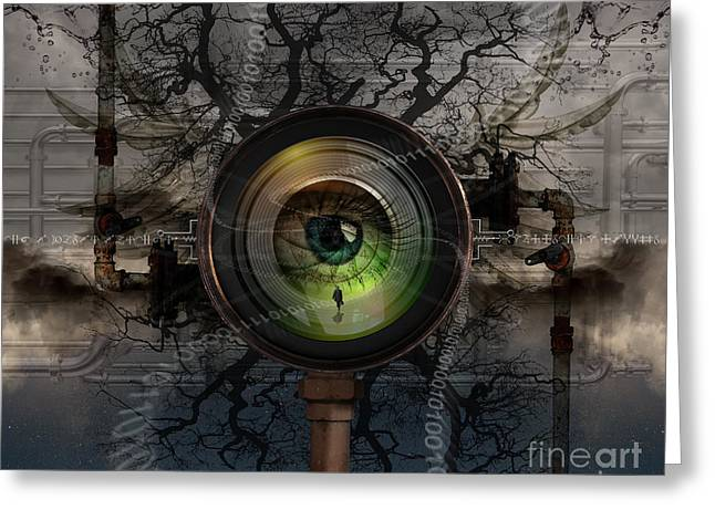 Gauge Greeting Cards - The Camera Eye Greeting Card by Keith Kapple