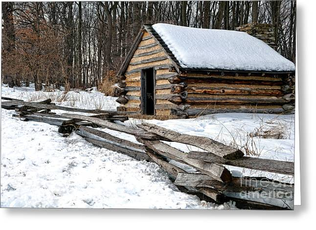 Valley Forge Greeting Cards - The Camp Greeting Card by Olivier Le Queinec