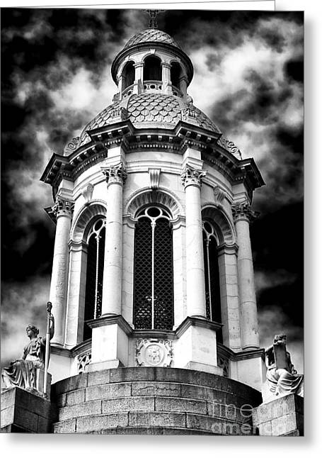 Bells Of Ireland Greeting Cards - The Campanile of Trinity College Greeting Card by John Rizzuto