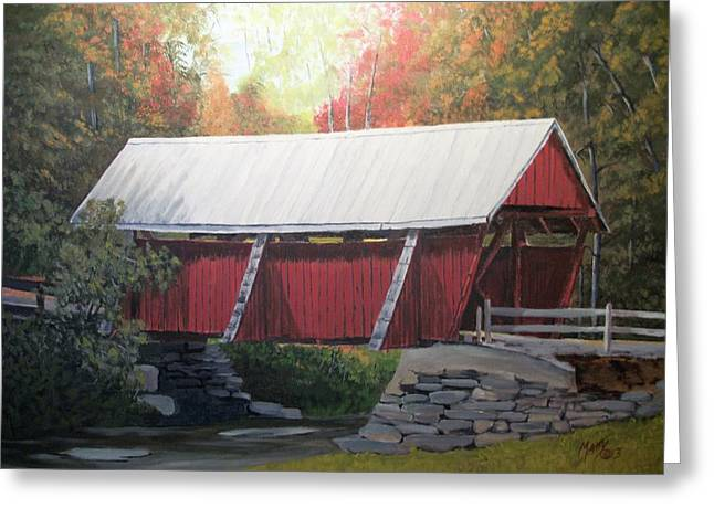 Matty Greeting Cards - The Campbell Covered Bridge Greeting Card by Matty Dreadlocks