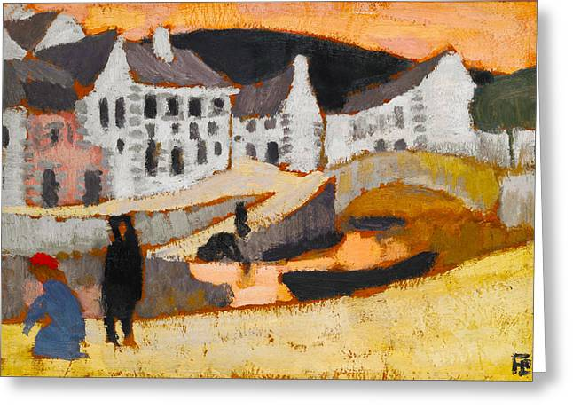 The Canal Greeting Card by Roger de La Fresnaye