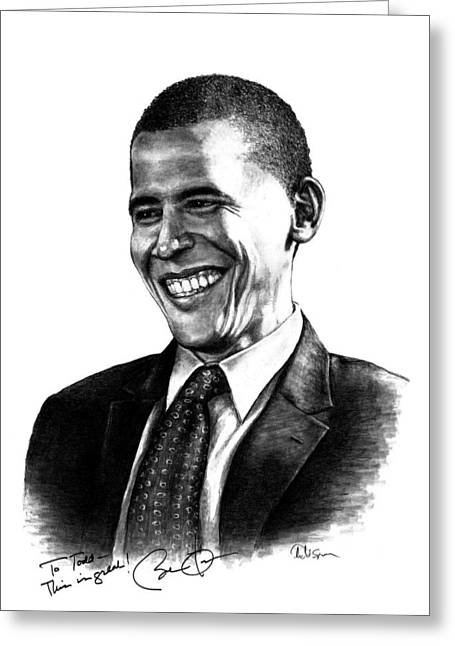 First Black President Greeting Cards - The Candidate Greeting Card by Todd Spaur