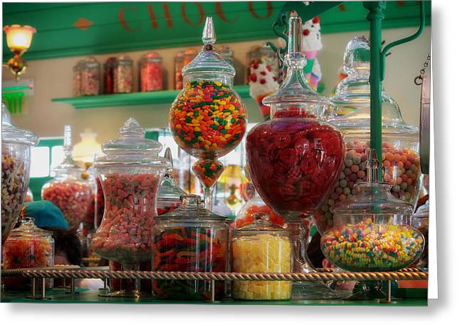 Candy Jar Greeting Cards - The Candy Store Greeting Card by Mountain Dreams