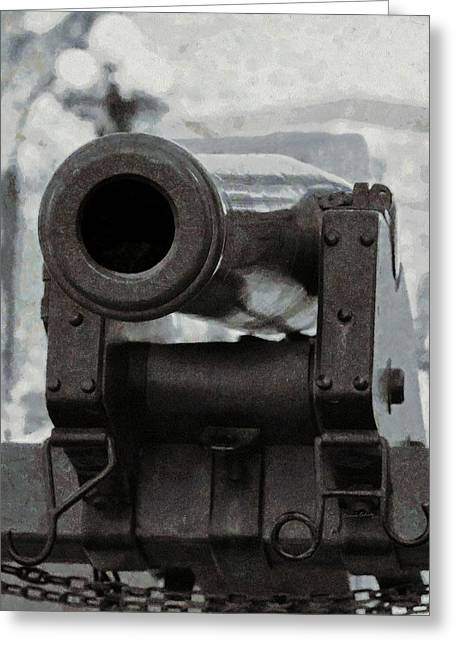 Weapon Mixed Media Greeting Cards - The Cannon Greeting Card by Ernie Echols