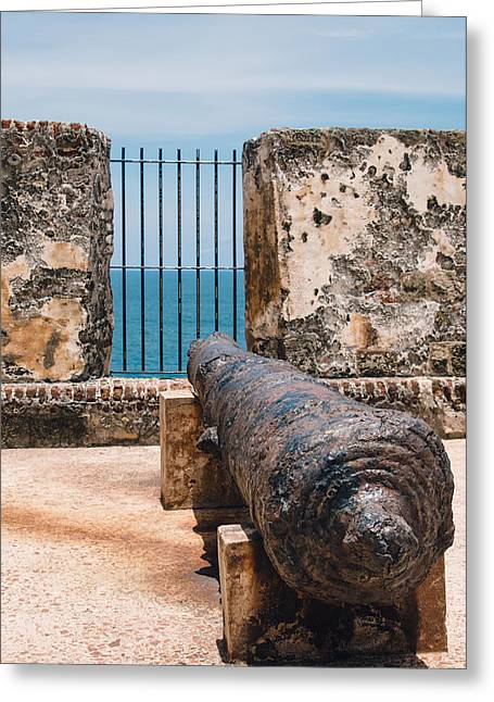 Old San Juan Greeting Cards - The cannon Greeting Card by Nastasia Cook