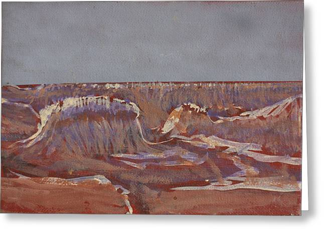 The Grand Canyon Paintings Greeting Cards - The Canyon Has Its Ways Greeting Card by David Zimmerman