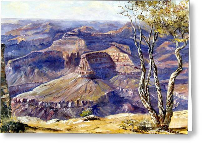 The Canyon Greeting Card by Lee Piper