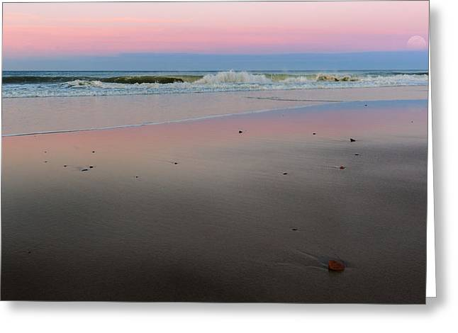 Moonrise Greeting Cards - The Cape Cod National Seashore Greeting Card by Bill  Wakeley