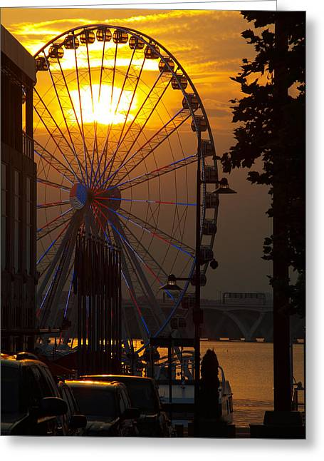 Md Greeting Cards - The Capital Wheel Greeting Card by James Granberry