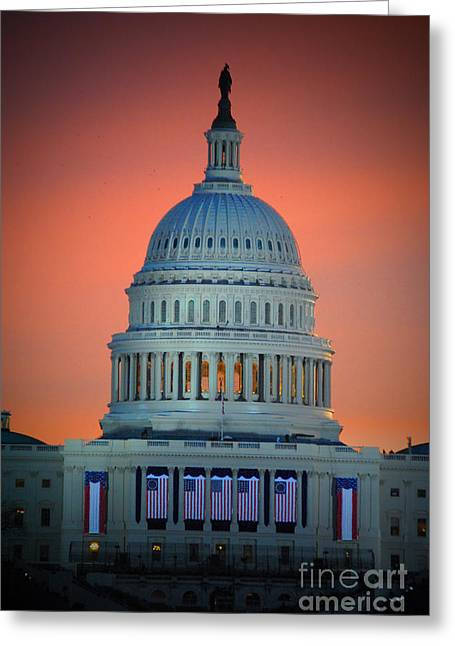 Vice President Biden Greeting Cards - The Capitol Dome Rise Greeting Card by Jost Houk