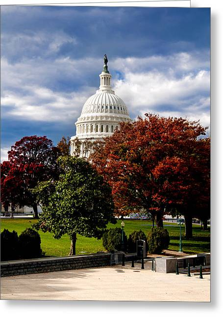 Arlington Photographs Greeting Cards - The Capitol Greeting Card by Greg Fortier