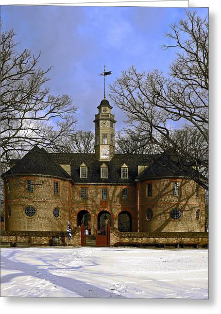 Windvane Greeting Cards - The Capitol in Snow Greeting Card by Sally Weigand