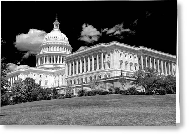 U.s. Capitol Greeting Cards - The Capitol Greeting Card by Mitch Cat