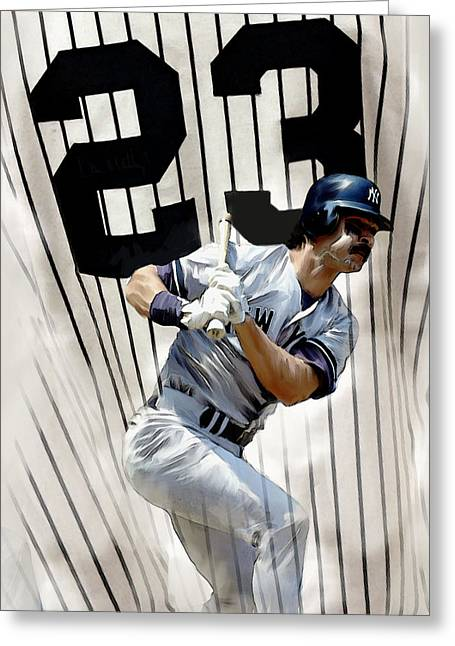 Donnie Baseball. Greeting Cards - The Captain Donnie Baseball Don Mattingly Greeting Card by Iconic Images Art Gallery David Pucciarelli