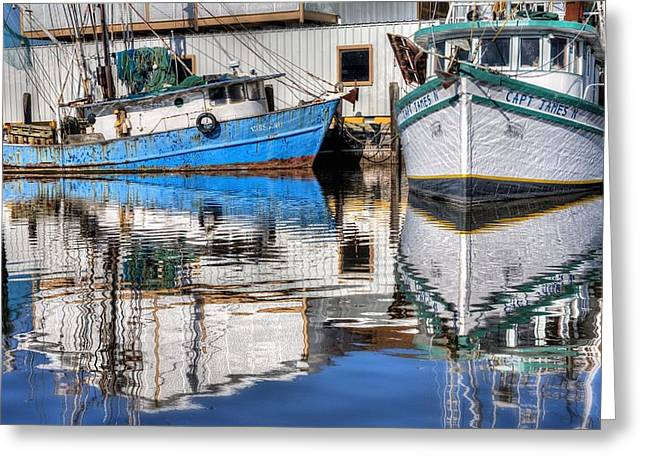Shrimp Boat Captains Greeting Cards - The Captain James Greeting Card by JC Findley