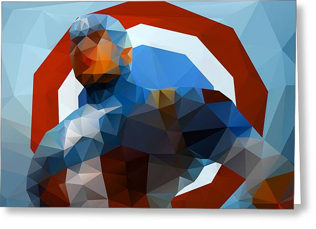 Captain America Greeting Cards - The Captain Greeting Card by Richard Rabassa