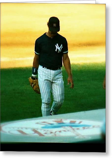 Donnie Baseball. Greeting Cards - The Captains Curtain Call   Don Mattingly Greeting Card by Iconic Images Art Gallery David Pucciarelli
