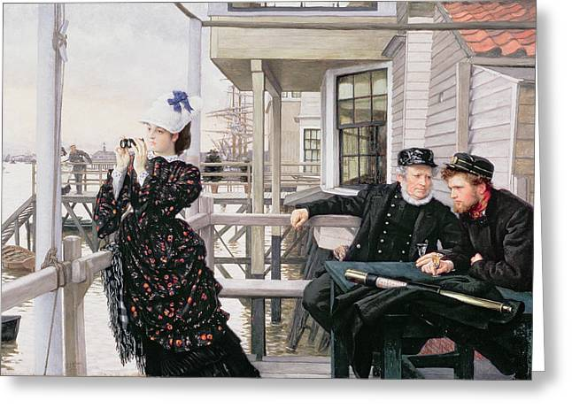 Seaman Greeting Cards - The Captains Daughter Greeting Card by James Jacques Joseph Tissot