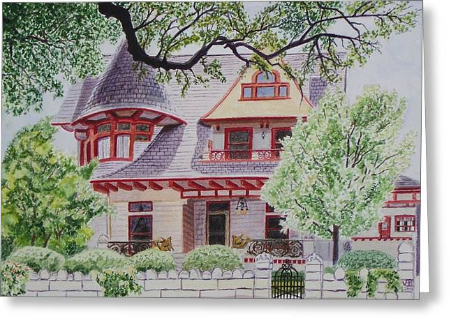 Historic Home Greeting Cards - the Captains House Greeting Card by Vera  Smith