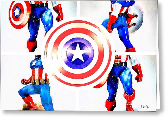 Capt. America Greeting Cards - The Captains Shield Greeting Card by Helge