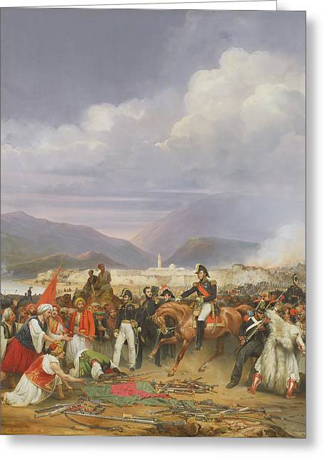 Liberation Greeting Cards - The Capture Of Morea Castle, 30th October 1828, 1836 Oil On Canvas Greeting Card by Jean Charles Langlois