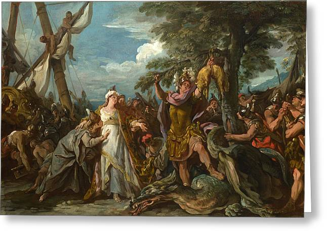 Francois Greeting Cards - The Capture of the Golden Fleece Greeting Card by Jean-Francois Detroy