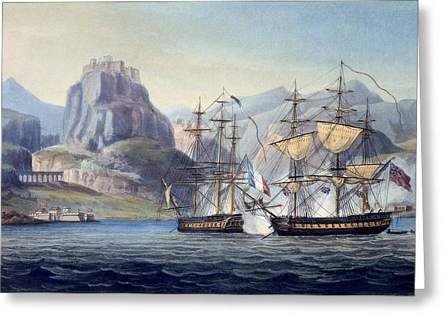 Belles Drawings Greeting Cards - The Capture Of The Var By Hms Belle Greeting Card by English School