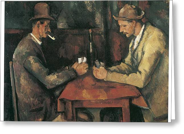 Playing Cards Greeting Cards - The Card Players Greeting Card by Paul Cezanne