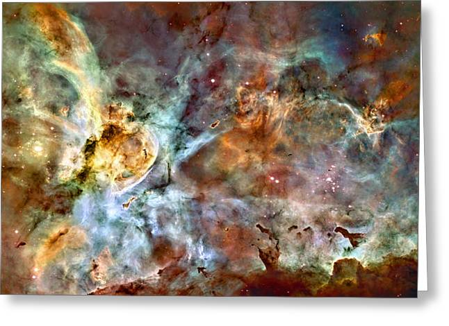Mysterious Greeting Card featuring the photograph The Carina Nebula by Ricky Barnard