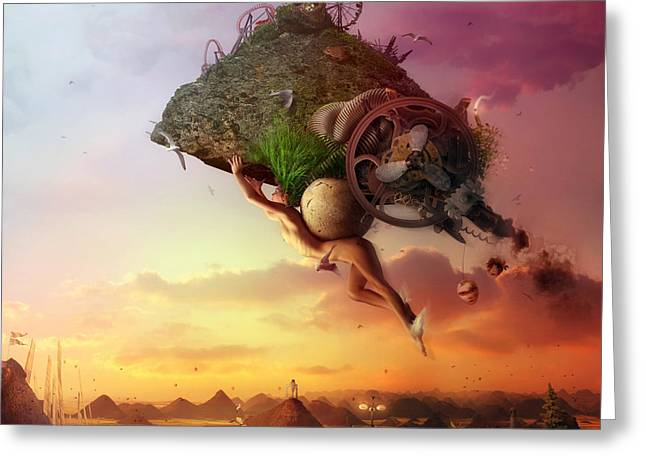 Artistic Digital Art Greeting Cards - The Carnival is Over Greeting Card by Mario Sanchez Nevado