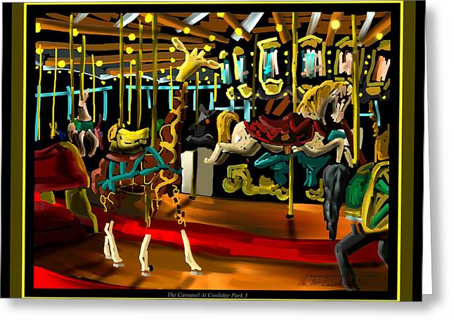 Tennessee Landmark Digital Greeting Cards - The Carousel At Coolidge Park Three - Chattanooga Landmark Series - # 8 Greeting Card by Steven Lebron Langston