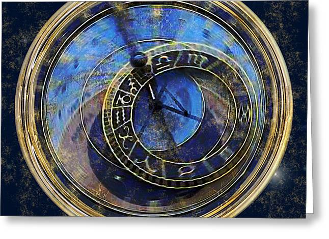 Czech Republic Digital Greeting Cards - The Carousel of Time Greeting Card by RC deWinter