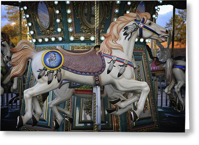 Landscape Iphone Phone Case Greeting Cards - The Carousel Smithville New Jersey Greeting Card by Terry DeLuco