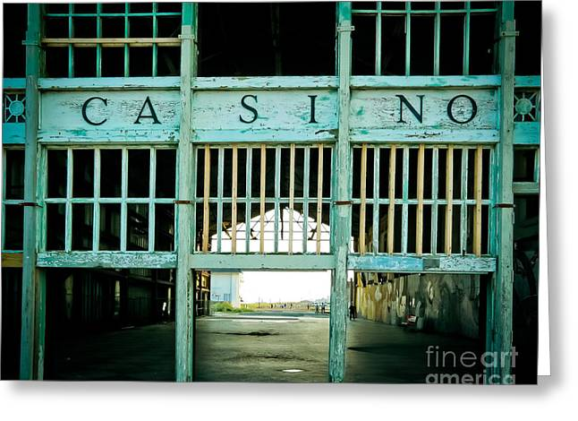 Original Photographs Greeting Cards - The Casino Greeting Card by Colleen Kammerer