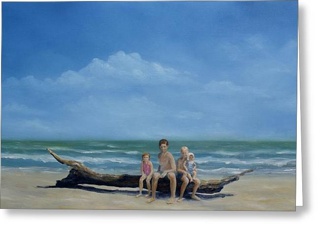 Galveston Paintings Greeting Cards - The Castaways Greeting Card by Karen Butcher