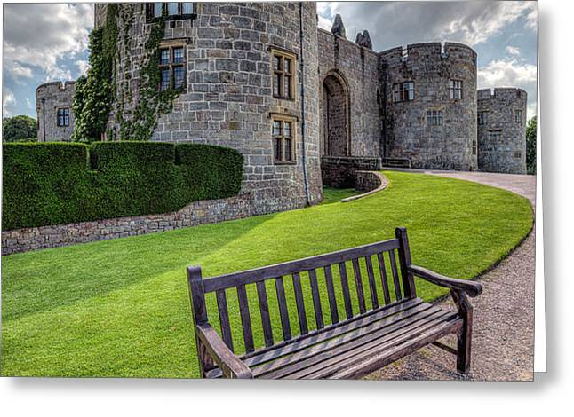 The Castle Bench Greeting Card by Adrian Evans