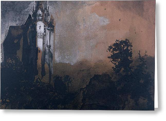 The Castle in the Moonlight  Greeting Card by Victor Hugo