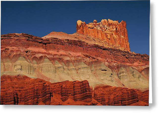 The Castle In The Morning, Scenic Greeting Card by Michel Hersen