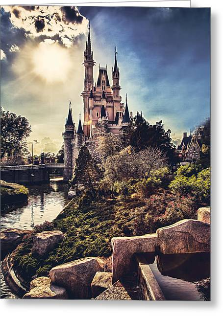 Cinderellas Castle Greeting Cards - The Castle Greeting Card by Joshua Minso