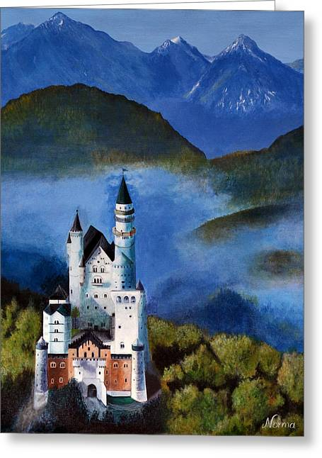 Dwell Greeting Cards - The Castle Greeting Card by Norma Garcia