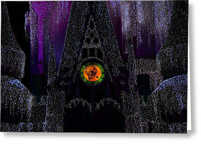 Cinderellas Castle Greeting Cards - The Castles Clock Greeting Card by David Lee Thompson
