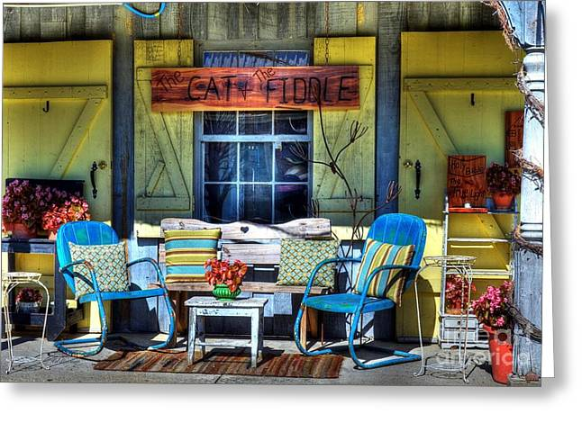 Indiana Scenes Greeting Cards - The Cat And The Fiddle Greeting Card by Mel Steinhauer