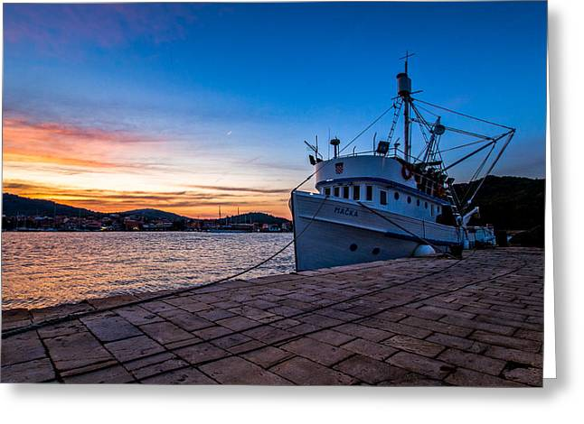 Fishing Boats Photographs Greeting Cards - The Cat Greeting Card by Davorin Mance