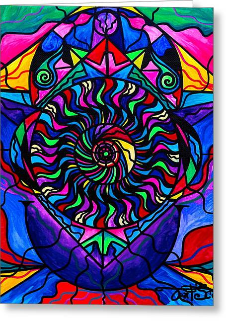 Spiritual Paintings Greeting Cards - The Catalyst Greeting Card by Teal Eye  Print Store