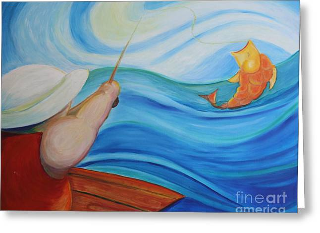 Teresa Hutto Greeting Cards - The Catch Greeting Card by Teresa Hutto